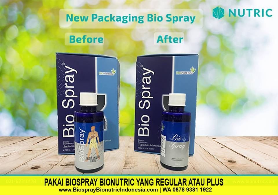 Pakai Bio Spray Bionutric Regular & Bio Spray Plus