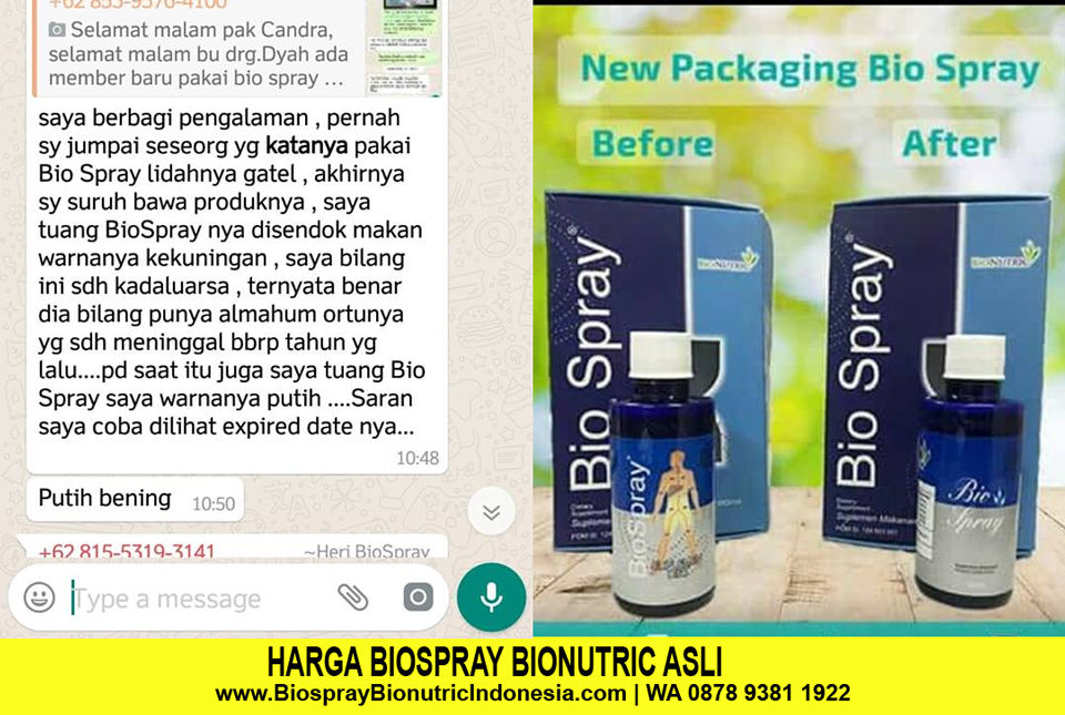 Bio Spray Bionutric Asli dan Palsu